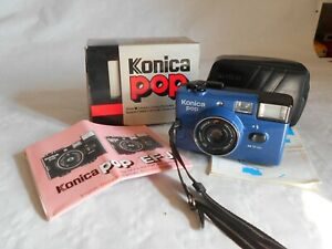 Konica pop 35mm compact camera Navy blue version boxed