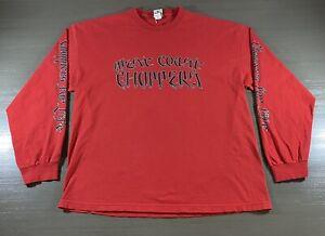 Vintage West Coast Choppers Shirt Adult 2XL XXL Red Black Jesse Who? Mens 2000