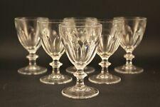 6 verres a vin rouge  cristal d'arques modele rambouillet
