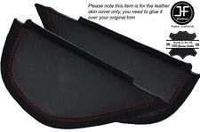 Rojo con puntada lateral 2x Dash panel recorte cubiertas de cuero se adapta a Vw Golf Mk6 6 Vi 08-12