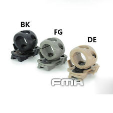 """FMA Airsoft Abrazadera único para casco rápido lateral riel Linterna de 0.83"""" Negro// fija de engranaje DE"""