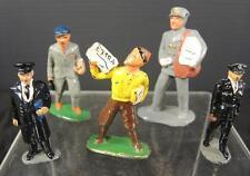 Five Occupational Lead Figures * Postal Carrier * News Boy * Police