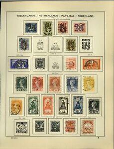 Netherlands 1923-1925 Album Page Of Stamps #V18708