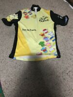 2004 Le Tour de France Cycling Jersey 91st Edition Yellow Black Size Small 904758579