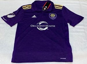 ADIDAS MLS Orlando City SC Replica Home Purple S/S Soccer Jersey NEW Youth Sz L