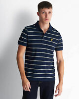 Lyle and Scott Mens Stripe Polo Shirt - Cotton