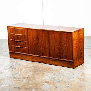 Mid Century Danish Modern Credenza Sideboard Cabinet Rosewood Poul Hundevad Mcm