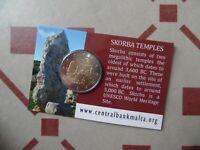 2 euro Malte BU 2020 Skorba Malta coincard série temple 2016 2017 2018 2019
