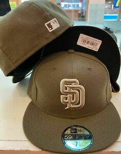 New Era cap San Diego Padres ALT hat fitted 59fifty 5950 olive brown SIZE 7 3/4