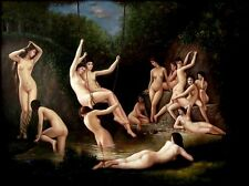 Quality Hand Painted Oil Painting Repro Bouguereau The Nymphaeum 30x40in