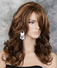 Full Wig Heat OK Long Wavy Curly Brown Blonde mix BBL 8/27/613