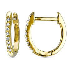 Amour 10k Yellow Gold 1/10 ct TDW Diamond Cuff Earrings G-H I1-I2