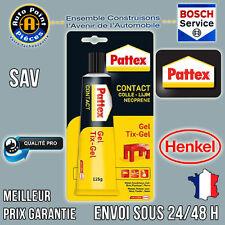 PATTEX Contact Colle Néoprène Caoutchouc Plastique Cuir Bois 125ml Gamme PRO