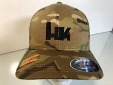 HK Heckler & Koch Logo Embroidered MultiCam Flexfit Ball Cap S/M or L/XL