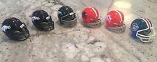 Riddell Pocket Pro football helmets Denver Broncos lot of 6 different