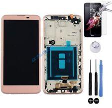ECRAN LCD + VITRE TACTILE SUR CHASSIS BLOC COMPLET POUR LG X SCREEN K500N ROSE