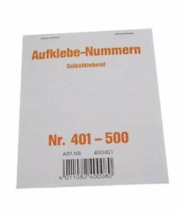 Wolf & Appenzeller 400401 - Gewinnaufklebe-Nummern 401-500, selbstklebend
