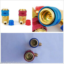 Car SUV Air Conditioning A/C R134a High&Low Side Quick Coupler Adapter HVAC SAE