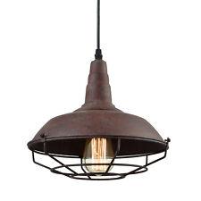 Modern Farmhouse Kitchen Pendant Light Cage Hangning Light Fixture, Rust Finish