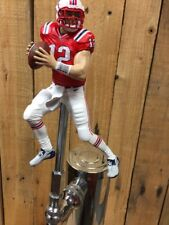New England PATRIOTS Tap Handle TOM BRADY Beer Keg Retro Red Jersey Boston