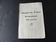Chagrin Falls, Ohio- Summer Theatre PROGRAM, 1954 Season. RARE!