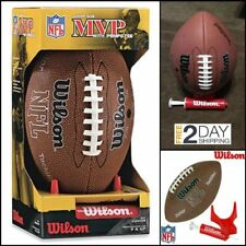 Wilson Nfl Mvp Junior Size Composite Leather American Football with Pump and Tee