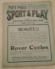 1904 ASTON VILLA v WOOLWICH ARSENAL/ WBA v PORT VALE/ SMALL HEATH v RIPLEY ATH.