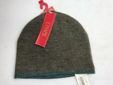 NEW Chaps Adult Beanie Hat Brown With Green Trim One Size NWT $26