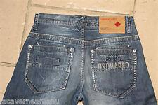lujoso jeans ancho recto DSQUARED toronto 1357 TALLA W30 L34 NUEVO
