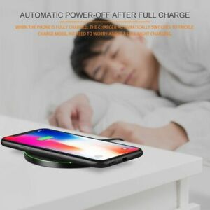 Qi Wireless Fast Charger Charging Pad Mat Metal For iPhone XS Max/XR/X/8 + NEW
