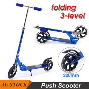 Hand Disc Brake Folding Scooter Big Wheel Dual Suspension Adult Commuter Kids AU