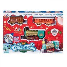 Christmas Train Set Toy Track Railway Sound and Light Festive Xmas Decoration