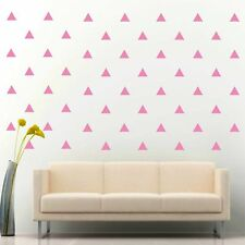 "108 of 4"" Soft Pink Triangle DIY Removable Peel & Stick Wall Vinyl Decal Sticker"