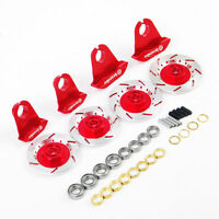 4Pcs Alloy Wheel Rim Brake Disc Kit Red For HSP RC 1:10 On-Road Racing Model Car