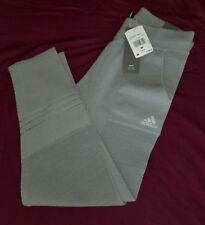 $180 Adidas Icon Knit Pants Sweatpants Tights Grey BS2453 Women's M