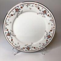 "Noritake Adagio Dinner 8.5"" Plates 7327, Ivory China Platinum Trim Set Of Ten"