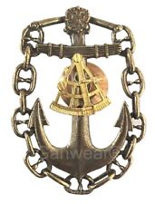 Russian Navy CAPTAIN NAVIGATOR Long Voyage Badge Gold Sextant Imperial Eagle