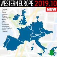 Western Europe GPS NAVIGATION Map 2019.10 for GARMIN DEVICES - LATEST MAP -