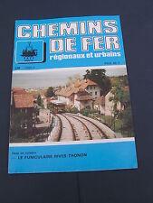 Chemins de fer régionaux et urbains 236 1993 funiculaire RIVES THONON LES BAINS