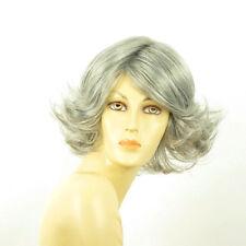 Perruque femme grise cheveux lisses ref  FLORE 51