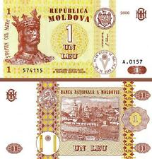 MOLDOVA 1 LEI 2006 UNCIRCULATED  P.8H