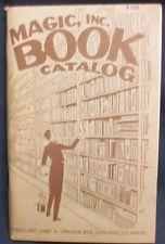 Magic Inc. Book Catalog