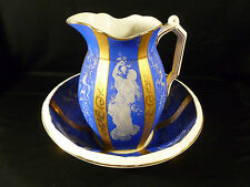 STUNNING HAND PAINTED BOWL & PITCHER SET BY JOHN MADDOCK & SONS ENGLAND - C 1912