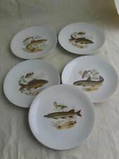 4 (5) Teller Fischservice Bareuther Porzellan