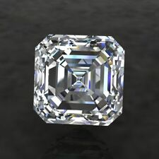 3 ct Crystal Carbon Asscher Synthetic Stone.Replaces Diamond/Moissanite