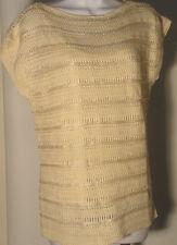 Lauren Ralph Lauren Striped Knit Boatneck Shirt Top Ivory  Womens XL XLarge