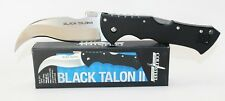 Cold Steel Black Talon II Pocket Knife Black G-10 Handle Talon Plain Edge 22BT