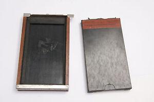 "Korona 3 x 5 1/4"" Pack Adapter Film Holder w/Sample OD 100x165x18mm VINTAGE W134"