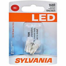 SYLVANIA 168 T10 W5W Red LED Bulb, (Contains 2 Bulbs)