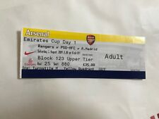 2009 Athletico Madrid / Arsenal / P S G v Rangers  Emirates  Cup  Ticket